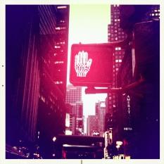 New York - Stop piétons