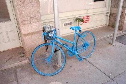 New York - Vélo bleu